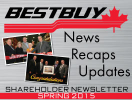 View the Spring 2015 Shareholder Newsletter