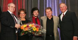Left to right: Douglas Squires, Jane Hay, Stephen Squires, Bill Hay, Jeff Van de Sande.