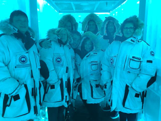 "Vodka tasting in the famous ""ice room"" of the Bearfoot Bistro in Whistler."